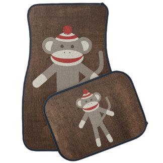 Retro Sock Monkey Car Floor Mat