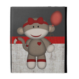 Retro Sock Monkey iPad Folio Covers