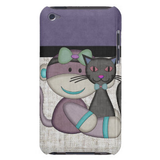 Retro Sock Monkey Barely There iPod Case