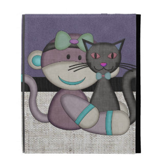 Retro Sock Monkey iPad Folio Cases