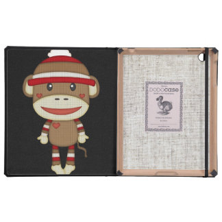 Retro Sock Monkey Cover For iPad