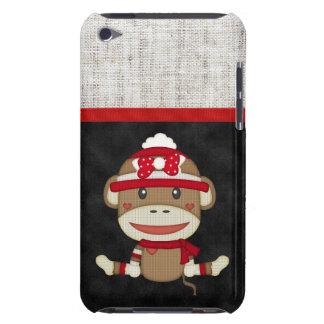 Retro Sock Monkey iPod Touch Cases