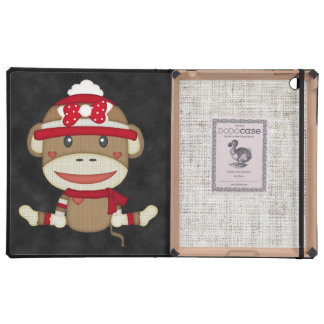 Retro Sock Monkey Cases For iPad
