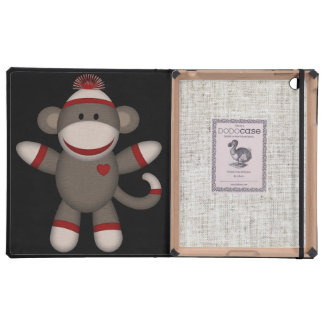 Retro Sock Monkey iPad Cases