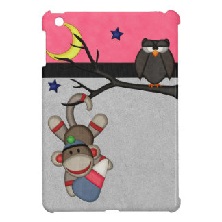 Retro Sock Monkey iPad Mini Covers