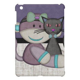 Retro Sock Monkey iPad Mini Case