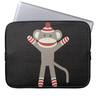 Retro Sock Monkey Laptop Sleeve