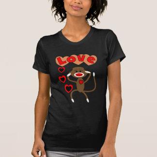 Retro sock monkey LOVE T-Shirt