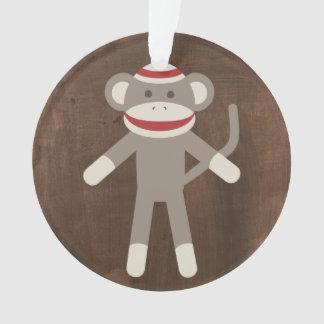 Retro Sock Monkey Ornament
