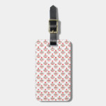 Retro Sock Monkey Pattern Travel Bag Tags