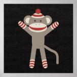 Retro Sock Monkey Poster