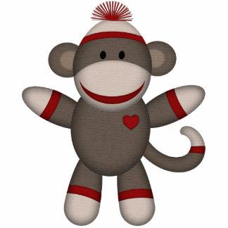 Retro Sock Monkey Statuette