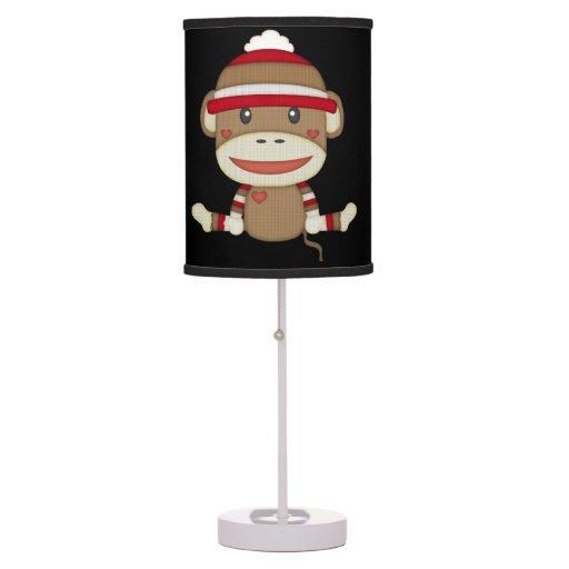 Retro Sock Monkey Table Lamp