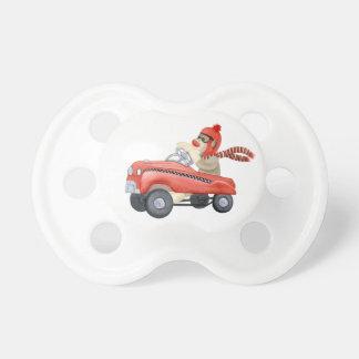 Retro Sock Monkey w Pedal Car Baby Boy Gifts Baby Pacifier