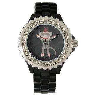 Retro Sock Monkey Wrist Watch