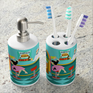 Retro Soda Fountain Bath Set