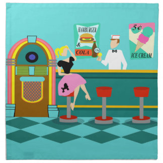 Retro Soda Fountain Cloth Napkins