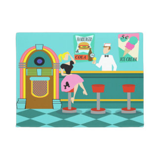 Retro Soda Fountain Door Mat