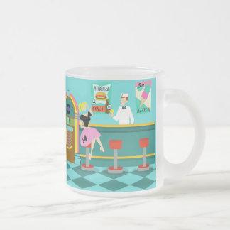 Retro Soda Fountain Frosted Glass Mug