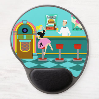 Retro Soda Fountain Gel Mousepad Gel Mouse Pad