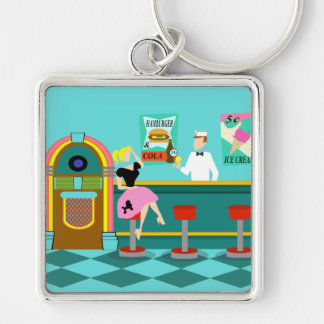Retro Soda Fountain Keychain