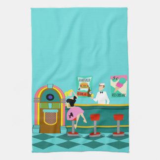 Retro Soda Fountain Kitchen Towel