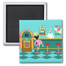 Retro Soda Fountain Magnet