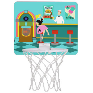 Retro Soda Fountain Mini Basketball Hoop
