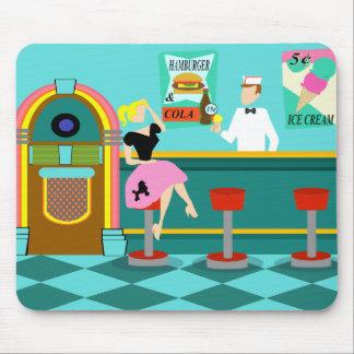 Retro Soda Fountain Mousepad Mouse Pad