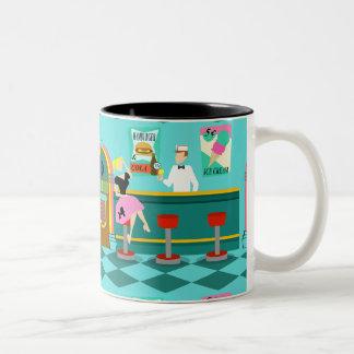 Retro Soda Fountain Mug Two-Tone Mug