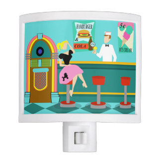 Retro Soda Fountain Night Light
