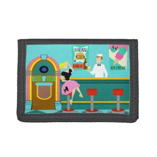 Retro Soda Fountain Nylon Wallet
