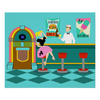 Retro Soda Fountain Poster