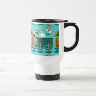 Retro Soda Fountain Travel Mug Stainless Steel Travel Mug