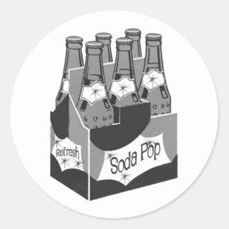 Retro Soda Pop Classic Round Sticker