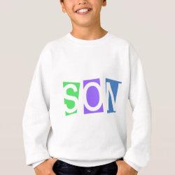 Kids' Hanes ComfortBlend® Sweatshirt with Retro Son design