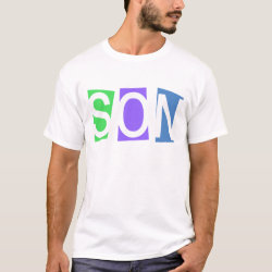 Men's Basic T-Shirt with Retro Son design