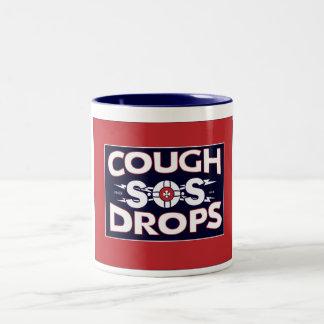 Retro SOS cough lollies mug