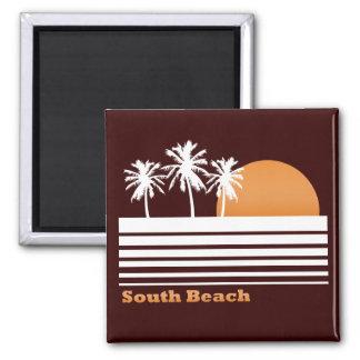 Retro South Beach Magnet