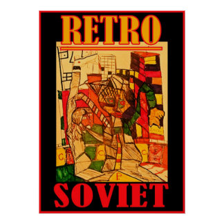 RETRO SOVIET POSTER