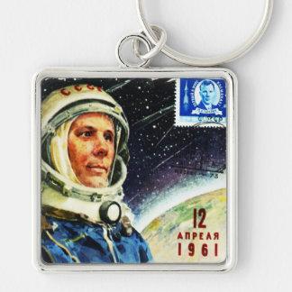 RETRO SPACE AGE 1960's Square Keychain