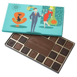 Retro Space Age Cartoon Couple Box of Chocolates
