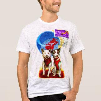 RETRO SPACE AGE (DOG ASTRONAUTS) Burnout T-Shirt