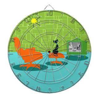Retro Space Age Kitty Dart Board