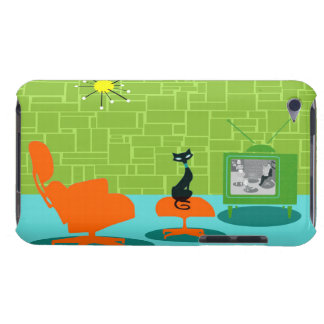 Retro Space Age Kitty iPod Touch Case