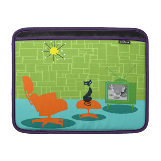 Retro Space Age Kitty MacBook Air MacBook Air Sleeve