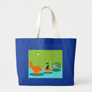 Retro Space Age Kitty Tote Bag