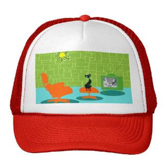 Retro Space Age Kitty Trucker Hat