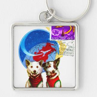 RETRO SPACE AGE (USSR DOG ASTRONAUTS) KEYCHAIN