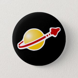 Retro Space Astronaut Badge Logo Pinback Button